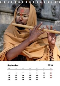 Menschen in NepalAT-Version (Tischkalender 2016 DIN A5 hoch)