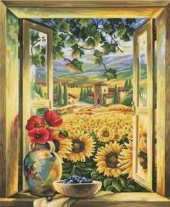 Schipper 609130405 - Sonnenblumenfelder, MNZ Malen nach Zahlen 4