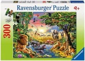 Abendsonne am Wasserloch. Puzzle 300 Teile