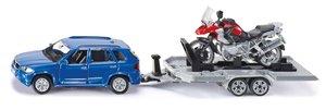 Siku 2547 - Personenkraftwagen mit Anhänger und Motorrad