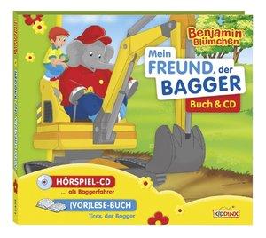 Benjamin Blümchen: Mein Freund, der Bagger. CD und Buch