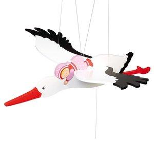 Goki 52929 - Schwingtier Storch mit Baby, 54cm