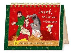 Josef, es ist ein Mädchen! 24 Frohe Weihnachtspostkarten, Tisch-