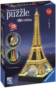Ravensburger 12579 - Eiffelturm bei Nacht - 3D-Puzzle-Bauwerk, N