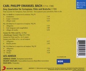 Drei Quartette für Fortepiano,Flöte und Viola