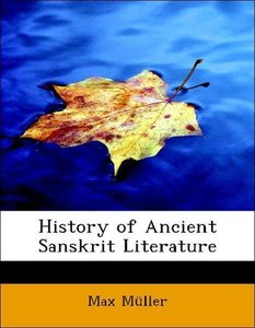 History of Ancient Sanskrit Literature