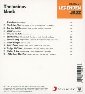 DIE ZEIT-Edition-Legenden d.Jazz: Thelonious Monk