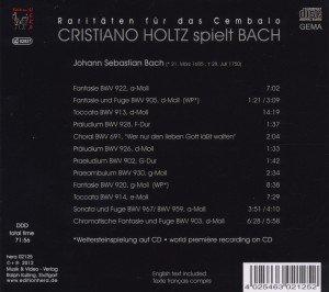 Bach-Raritäten für das Cembalo