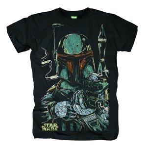 Boba Fett Sketch,T-Shirt,Größe L,Schwarz