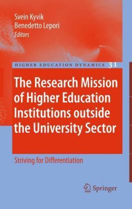 The Research Mission of Higher Education Institutions outside th - zum Schließen ins Bild klicken