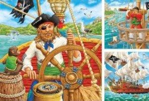 Ravensburger 09275 - Piratenabenteuer, 3 x 49 Teile Puzzle