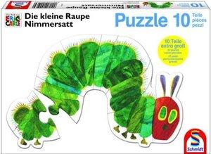 Die kleine Raupe Nimmersatt - Konturenpuzzle Raupe, 10 Teile
