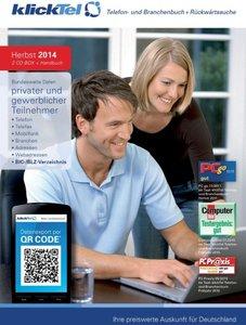 klickTel Telefon- und Branchenbuch - Herbst 2014