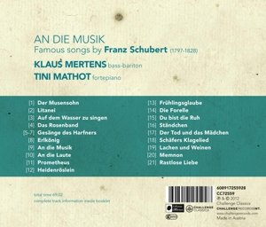 An die Musik-Famous Songs by Franz Schubert