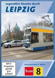 Tram 8 - Legendäre Routen durch Leipzig - Paunsdorf-Nord -> Milt
