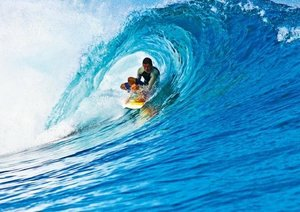 Surfen in der großen Welle (Posterbuch DIN A4 quer)