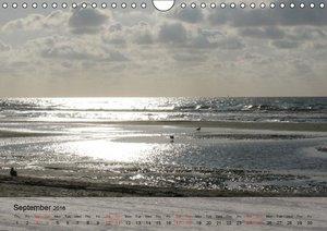 At the Beach - UK-Version (Wall Calendar 2016 DIN A4 Landscape)