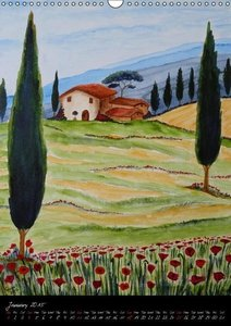 Tuscany all year long / UK-Version (Wall Calendar 2015 DIN A3 Po
