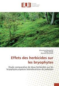 Effets des herbicides sur les bryophytes