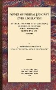 Power of Federal Judiciary Over Legislation