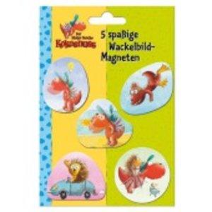 Der kleine Drache Kokosnuss - Wackelbildmagneten