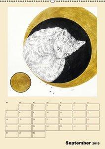 Surreale Katzenträume (Wandkalender 2015 DIN A2 hoch)