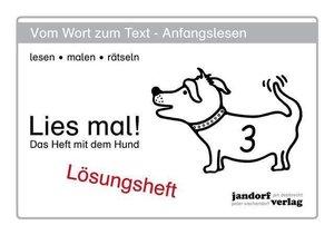 Wachendorf, P: Lies mal! Heft 3 Lösungsheft
