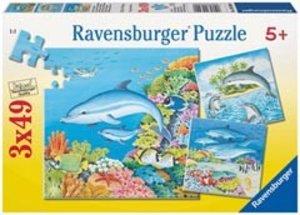 Ravensburger 09309 - Welt der Delfine, Puzzle, 3x49 Teile