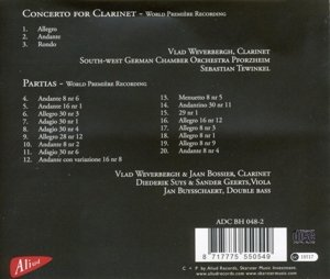 Henri Joseph De Croes-Concerto for Clarinet & Par