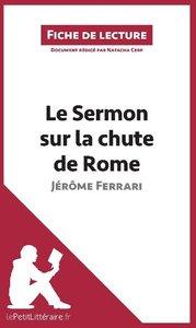 Le Sermon sur la chute de Rome de Jérôme Ferrari (Fiche de lectu