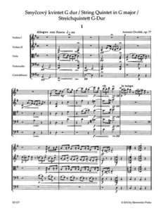 Streichquintett G-Dur (Smyccový kvintet G dur) op. 77