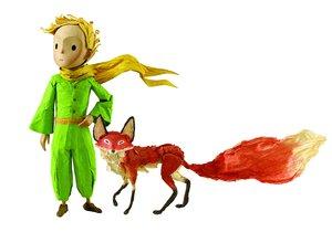 Hape 824769 - Der kleine Prinz mit Fuchs, Figuren Set