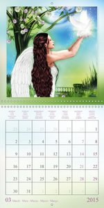 Heavenly Angels (Wall Calendar 2015 300 × 300 mm Square)