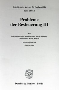 Probleme der Besteuerung III.