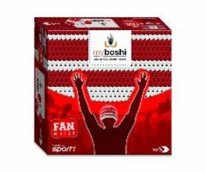 Noris 606311346 - MyBoshi Fan Mütze, rot-weiß