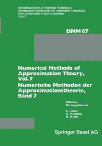 Numerical Methods of Approximation Theory, Vol. 7 / Numerische M