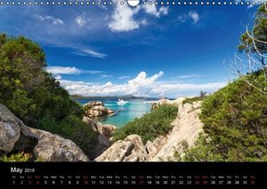 Sardinia / UK-Version (Wall Calendar 2015 DIN A3 Landscape)