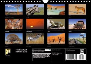 The beauty of Namibia 2015 (Wall Calendar 2015 DIN A4 Landscape)