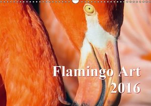 Flamingo Art 2016 UK-Version (Wall Calendar 2016 DIN A3 Landscap