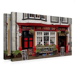 Premium Textil-Leinwand 75 cm x 50 cm quer Pub in South Queensfe
