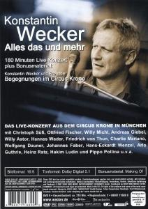 Konstantin Wecker - Alles das und mehr