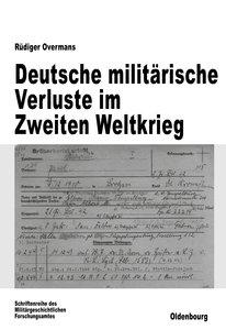 Deutsche militärische Verluste im Zweiten Weltkrieg