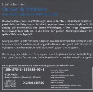 Ernst Johannsen: Vier Von Der Infanterie