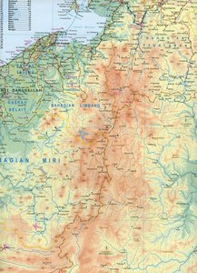 Borneo Travel Reference Map 1 : 130 000