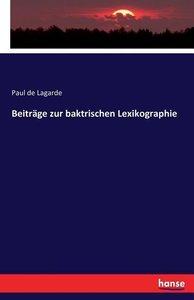 Beiträge zur baktrischen Lexikographie