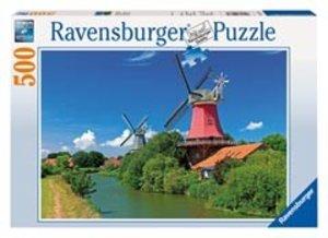 Ravensburger 14173 - Windmühlenromantik, 500 Teile Puzzle
