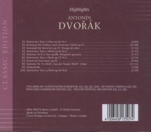 Highlights Antonin Dvorak