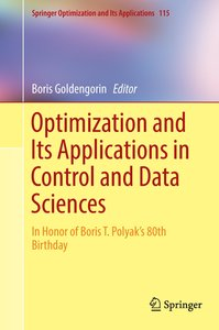 Optimization and Applications in Control and Data Sciences
