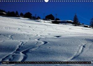 Neige sur les Hautes Alpes (Calendrier mural 2015 DIN A3 horizon