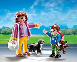 PLAYMOBIL® 5513 - Duo Pack: Mama mit Schulkind